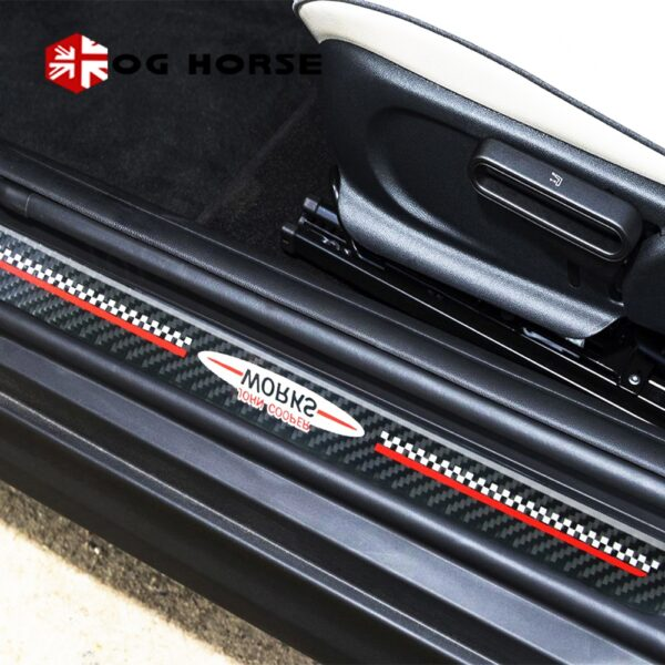 Door-Sill-Welcome-Plate-Pedal-Footboard-Protector-Sticker-Carbon-Fiber-Styling-Cover-For-MINI-Cooper-Countryman-F60-Accessories