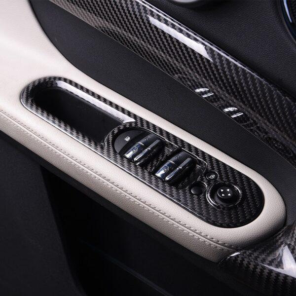 Car Window Control Panel Cover Carbon fiber Sticker For MINI Cooper S F54 F55 F56 F57 F60 Car accessories interior car styling