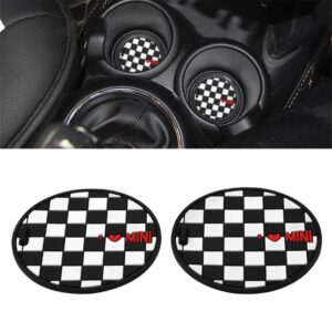 7.7mm Silica Gel Car Cup Anti-slip Pad Mat for bmw Mini Cooper 2011 2012 2013 R55 R56 1XCF