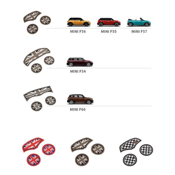 3PCS-Union-Jack-Car-Cup-Coffee-Cushion-Storage-Auto-Non-slip-Mat-Pad-For-Mini-Cooper-Clubman-F55-F56-F60-F54-F57-Accessories