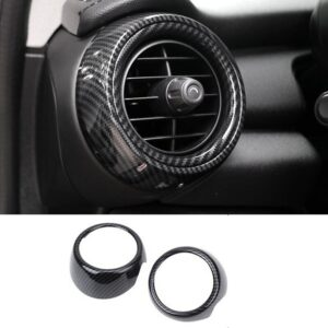 Car Dashboard Side Air Vent Decoration Ring Cover Trim Car Sticker Styling Carbon Fiber Style for Mini Cooper F55 F56 F57