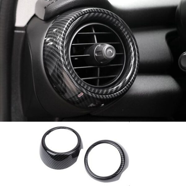 Car-Dashboard-Side-Air-Vent-Decoration-Ring-Cover-Trim-Car-Sticker-Styling-Carbon-Fiber-Style-for-Mini-Cooper-F55-F56-F57