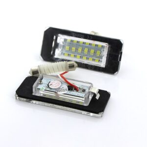 AOSHIKE 2PCS White 18SMD Car LED License Plate Light Lamp Beads for Mini Cooper R56 R57 R58 R59 Car Light Source Error Free