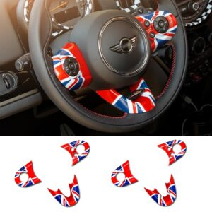 Car Steering wheel multi-function button decoration stickers For BMW MINI Countryman F54 F55 F56 F57 F60 Cooper JCW accessories