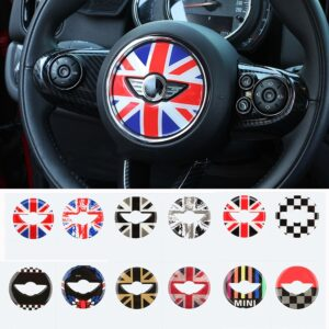 For MINI COOPER F54 F55 F56 F57 F60 Countryman Clubman Steering Wheel 3D Dedicated Car Sticker Decal Cover Trim Accessories Skin