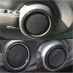 2pcs Door Lower Speaker Trims Carbon fiber style pattern High Quality ABS Plastic Trim Decor For BMW MINI Cooper S F55 F56 F57