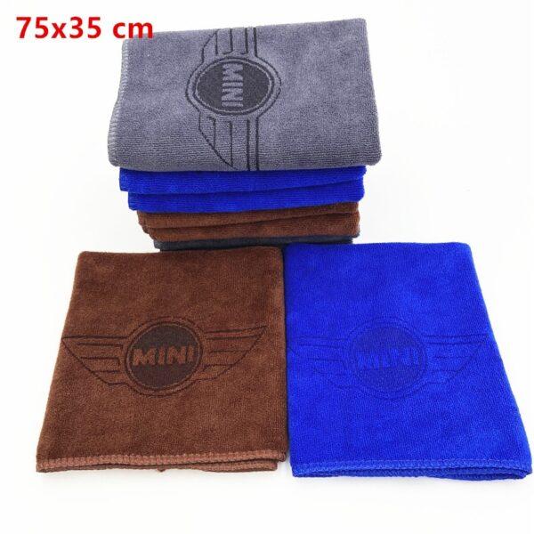 Microfiber Car logo towel Car wash clean towel For BMW MINI Cooper F54 F56 F55 R60 R61 F60 countryman Clubman car accessories