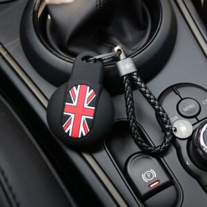 Car Key case Silica gel Protection Cover For BMW MINI Cooper F54 F55 F56 F57 F60 Clubman Countryman Keychain Styling Accessories