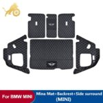 Car Trunk Mat For BMW MINI ONE Cooper F54 F55 F56F60R60 Leather Pad JCW Parts COUNTRYMAN CLUBMAN HATCHBACK car Accessories