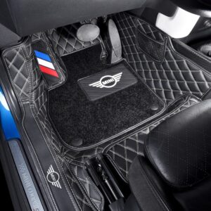 Car Floor Foot Mats For BMW MINI Cooper R56 F54 F55 F56 F57 F60 R60 Countryman CLUBMAN Waterproof Custom Lether Pads Accessories