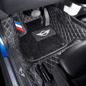 Car Floor Foot Mats For BMW MINI Cooper R56 F54 F55 F56 F57 F60 R60 Countryman CLUBMAN Waterproof Custom Lether Pads Accessories