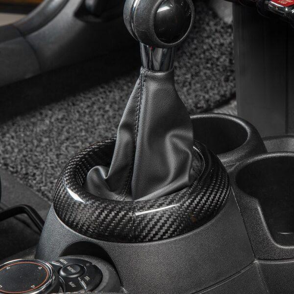 Car-Gear-Trim-Ring-For-BMW-MINI-Cooper-S-One-F54-F55-F56-F57-F60-Clubman-Countryman-Carbon-Fiber-Dust-Mask-Interior-Accessories