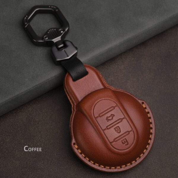 Leather-Car-Key-Cover-Case-for-Bmw-mini-cooper-Key-Cover-Keycase-for-mini-cooper-F55-F56-F57-F54-F60-Key-Chain-Protect