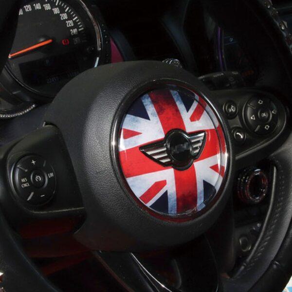 For BMW MINI COOPER ONE JCW F54 F55 F56 F57 F60 Clubman Steering wheel decorative 3D sticker car styling accessories decoration