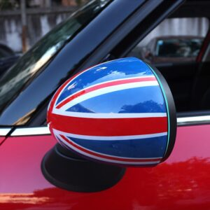 Car-styling Door Rear View Mirror Covers Stickers for Mini Cooper S JCW Clubman Countryman Paceman R55 R56 R57 R60 R61