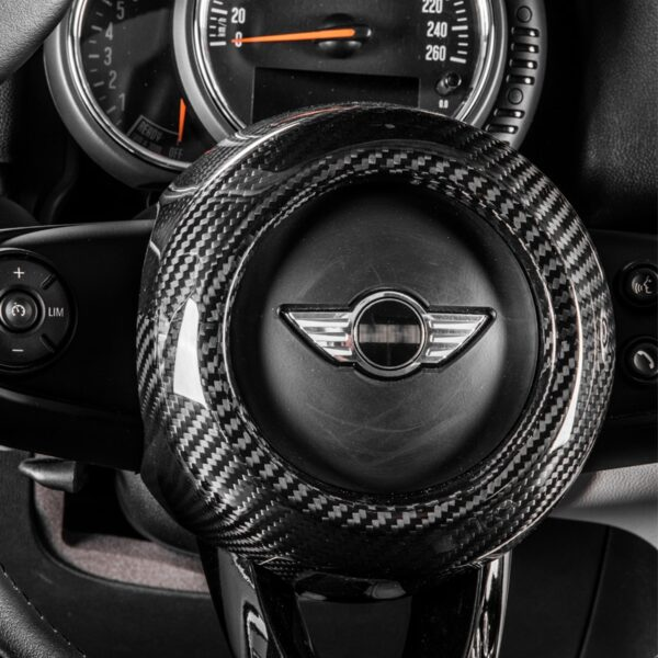 carbon-fiber-Modification-Accessories-Steering-wheel-center-decoration-car-styling-For-MINI-COOPER-Clubman-S-F54-F55-F56-F57-F60