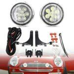 2X-White-For-MINI-Led-Rally-Lights-LED-DRL-Daytime-Running-Driving-Lamp-For-Mini-Cooper-R50-R52-R53-2001-2006