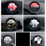 ABS carbon fiber Car Oil Fuel Tank Cap Decorative Shell Sticker Cover Decals For MINI Cooper S R55 Clubman R56 2.0T Car Styling