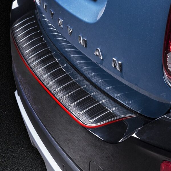 Car-Exterior-Decoration-Rear-Guard-Protection-Pannel-For-BMW-MINI-Cooper-F60-Countryman-Stainless-Steel-Trunk-Rear-Guard-Plate