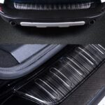 Car Exterior Decoration Rear Guard Protection Pannel For BMW MINI Cooper F60 Countryman Stainless Steel Trunk Rear Guard Plate