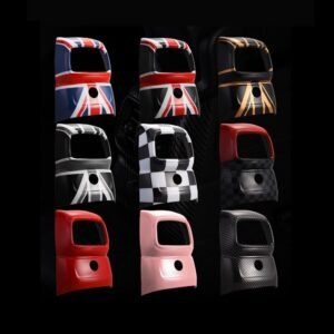1PC Car Accessories Back Air Vent Cover Sticker Decoration For MINI Cooper F60 Countryman Union Jack Interior