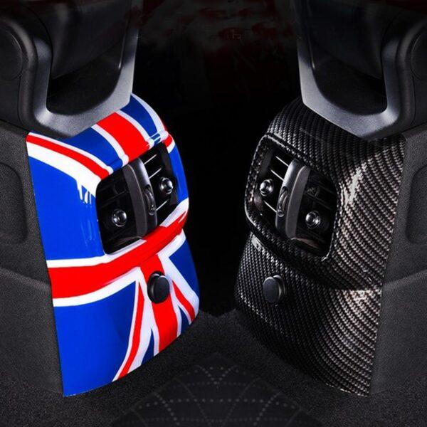 1PC Car Accessories Back Air Vent Cover Sticker Decoration For MINI Cooper F60 Countryman Union Jack Interior
